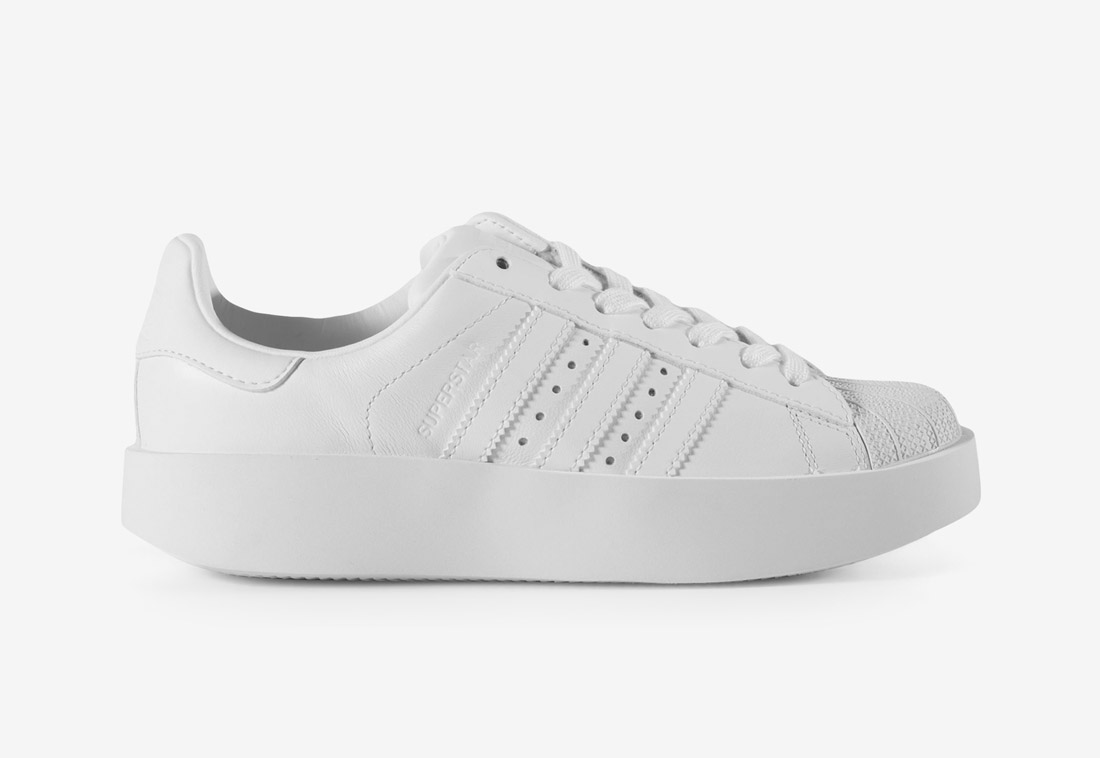 adidas Originals Superstar Bold — tenisky na platformě — dámské — boty — sneakers — bílé