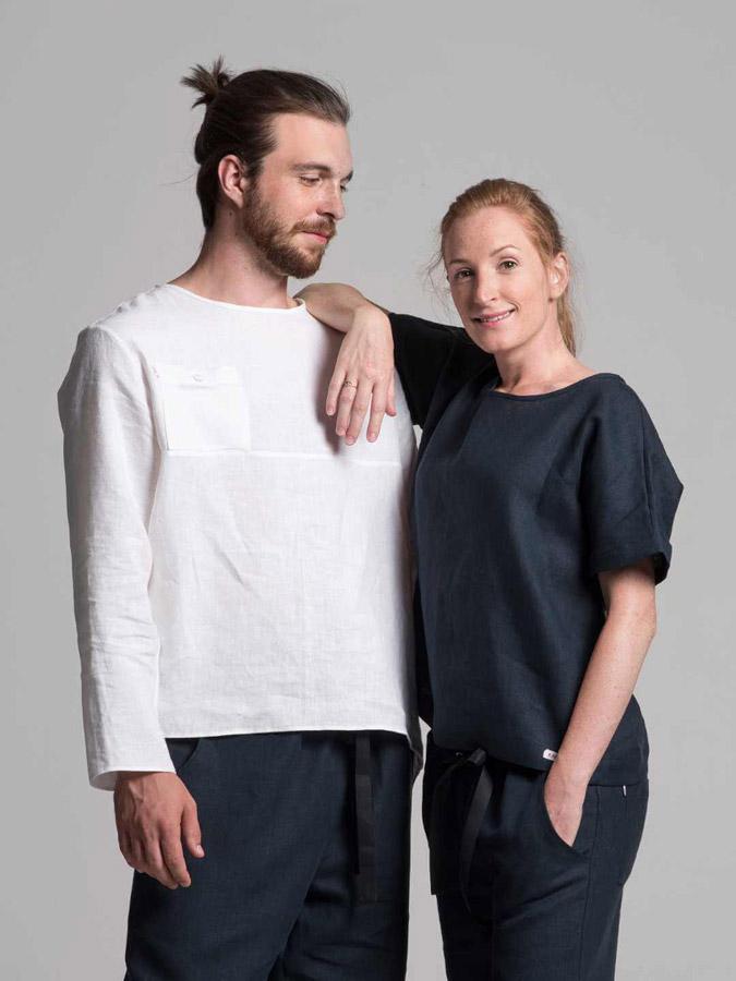 K.BANA — lněné košile — pánské — dámské