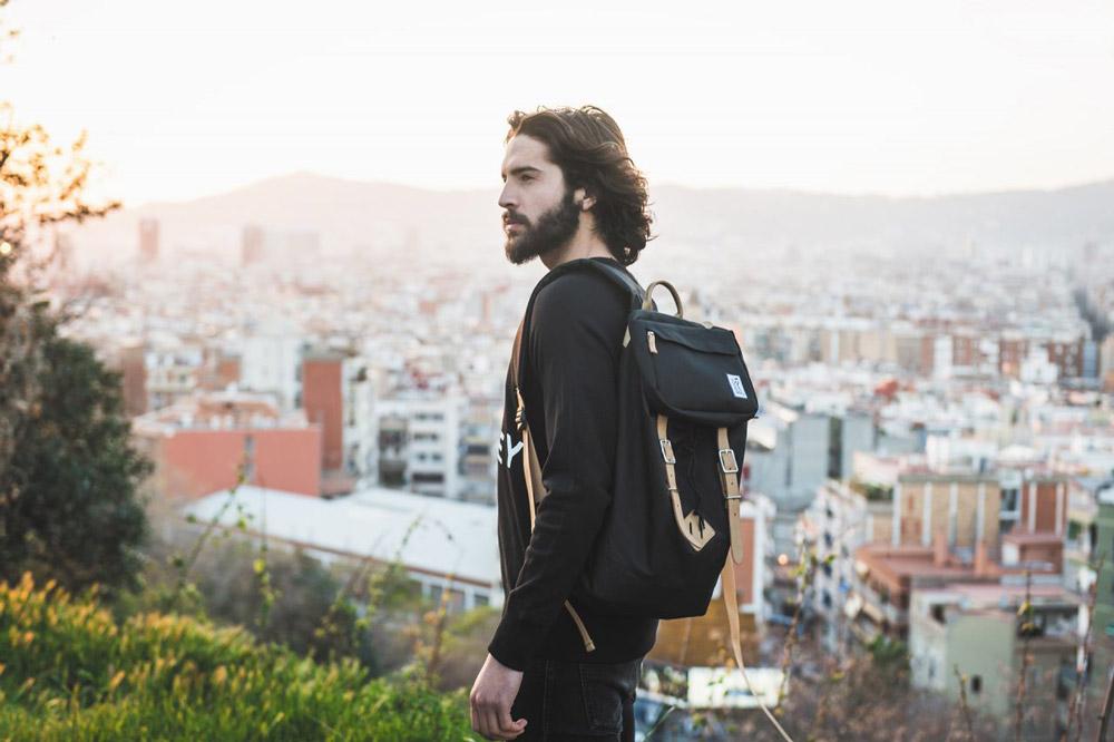 The Pack Society — černý batoh — plátěné batohy — jaro/léto 2017