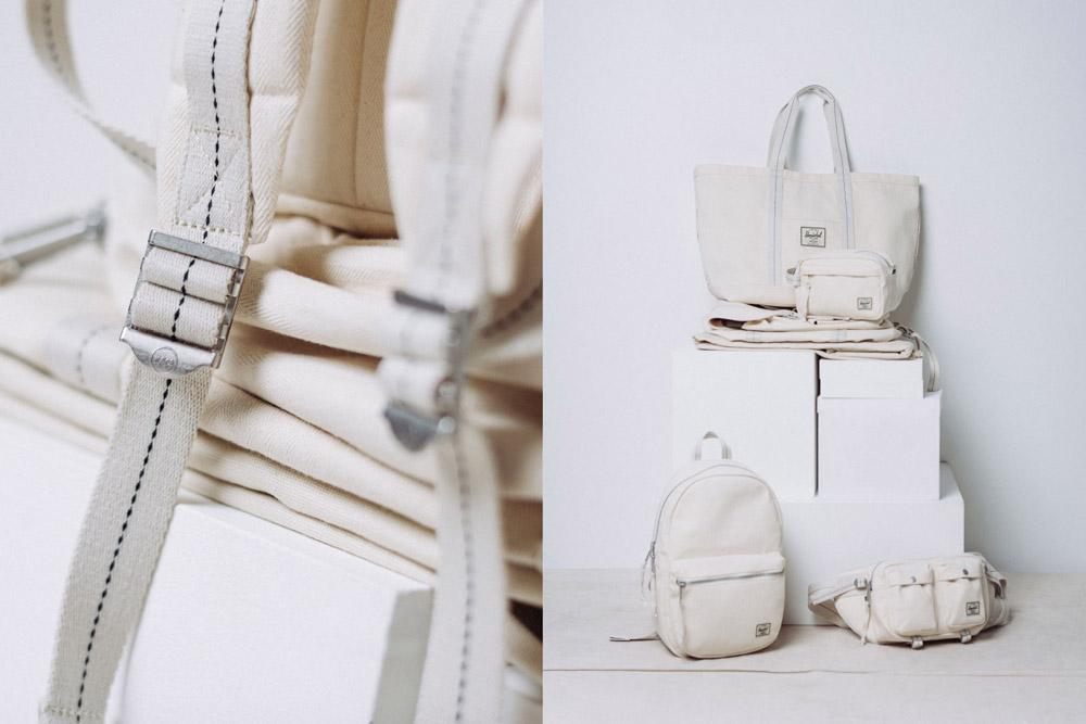 Herschel Supply — batohy, tašky, ledvinky — bílé, smetanové — kolekce Surplus — lookbook léto (summer) 2017