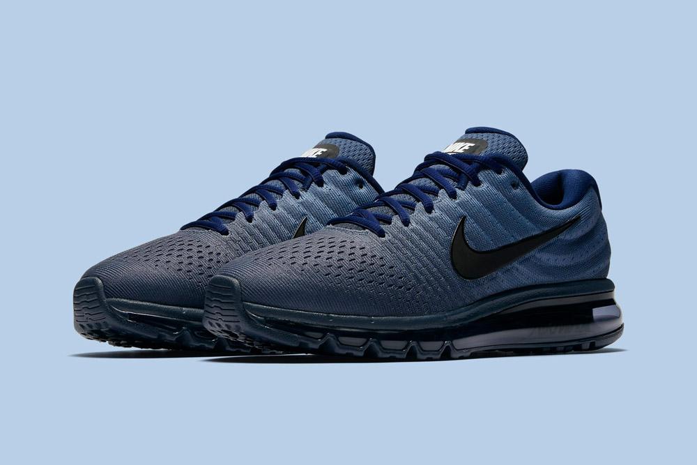 Nike Air Max 2017 — pánské boty — běžecké — tenisky — sneakers — modré (blue)