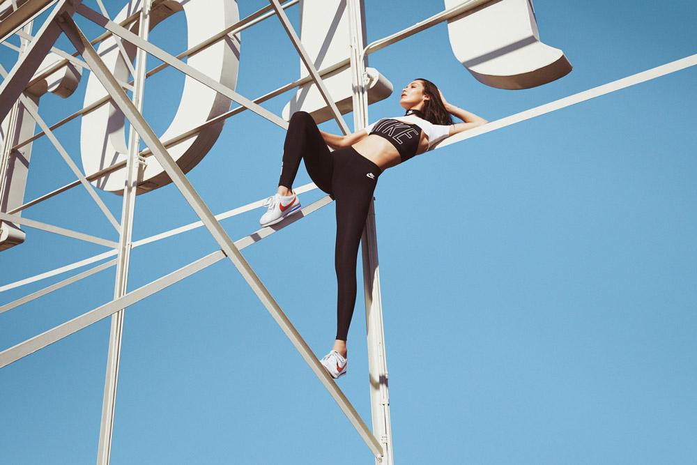 Nike Cortez x Bella Hadid — kampaň — 45. výročí vzniku