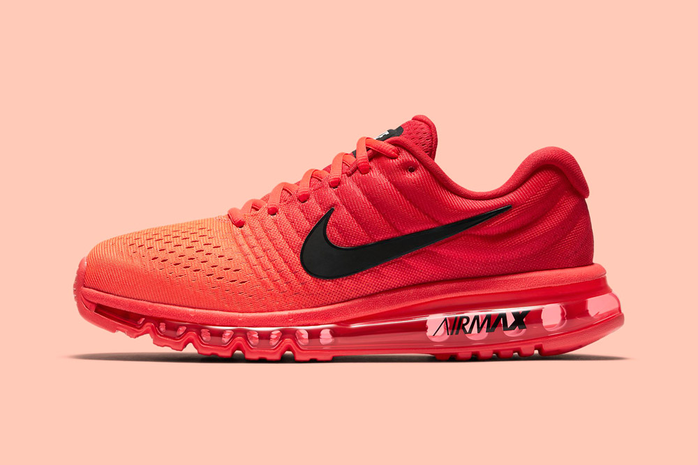 Nike Air Max 2017 — pánské boty — běžecké — tenisky — sneakers — oranžové, červené (orange, red)