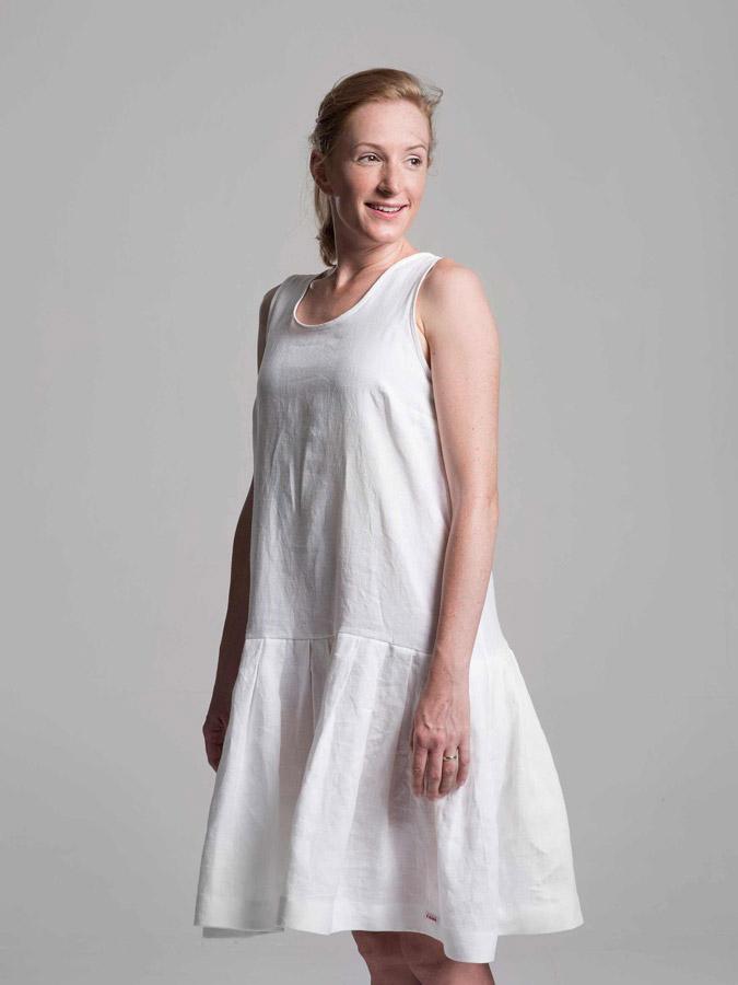 K.BANA — lněné letní šaty — bílé — dámské
