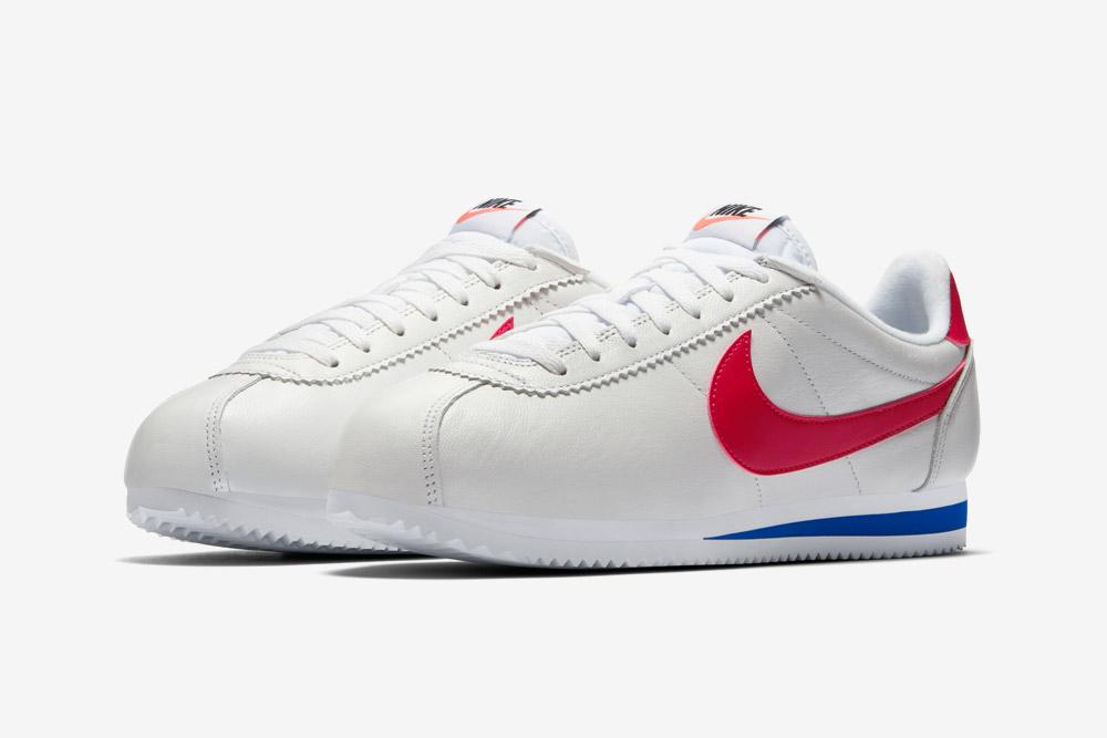 Nike Cortez Leather — bílé tenisky — boty — sneakers — retro — kožené — dámské, pánské