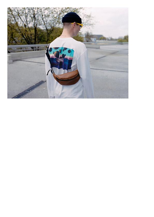 Funtime — bílé tričko s potiskem, dlouhý rukáv — lookbook léto 2017