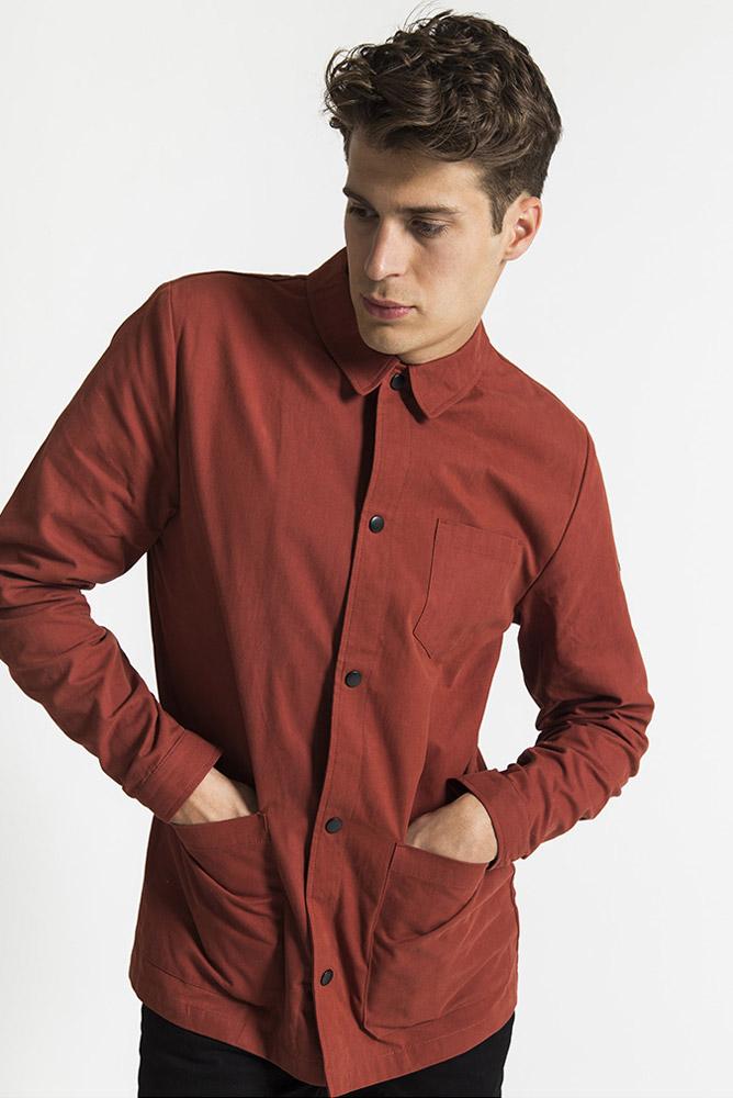 RVLT — červená košile s dlouhým rukávem — pánská