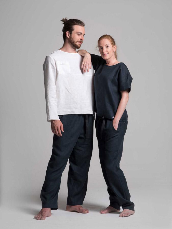K.BANA — lněné košile — lněné kalhoty — dámské a pánské