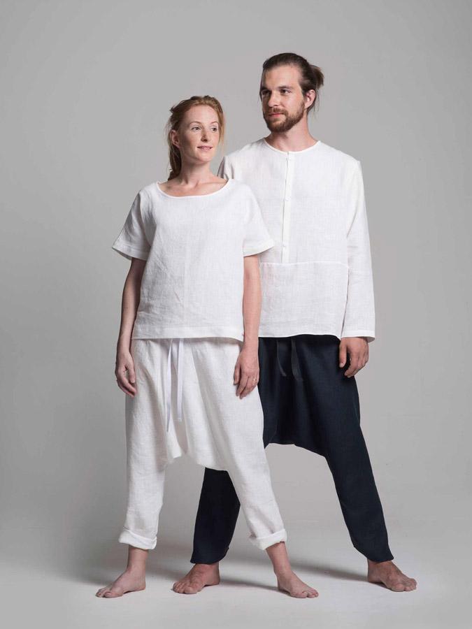 K.BANA — turecké lněné kalhoty — lněné košile — dámské a pánské