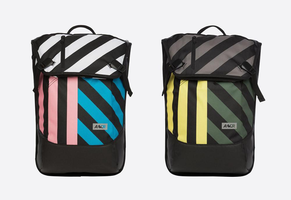 Aevor Daypack Stripeoff — pruhované batohy
