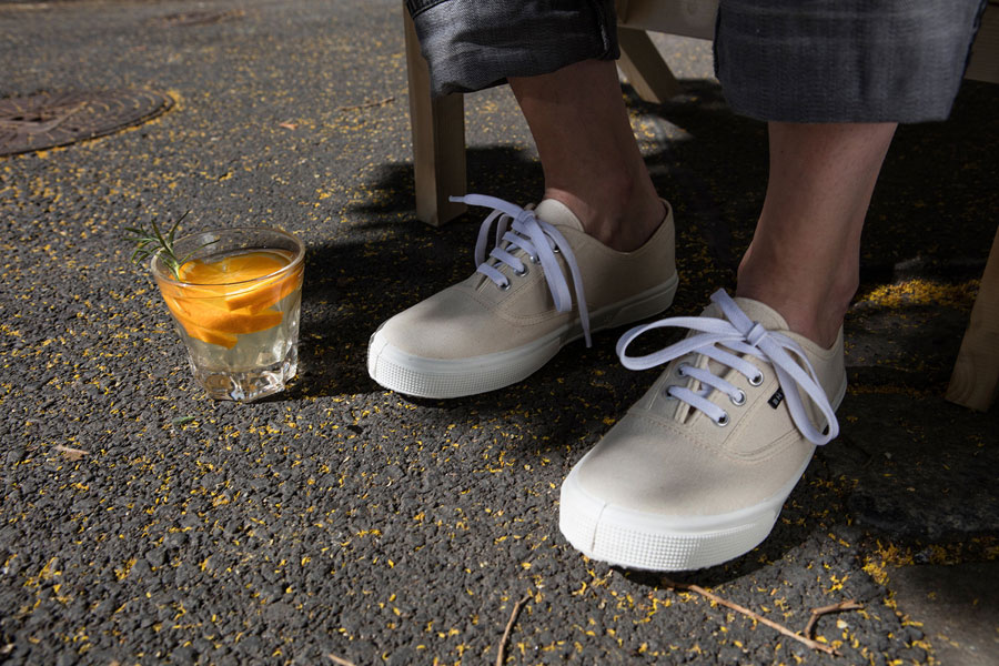 Bohempia — plátěné tenisky z konopí — přírodní bílé — kecky — letní tenisky — veganské — dámské, pánské — BHMP