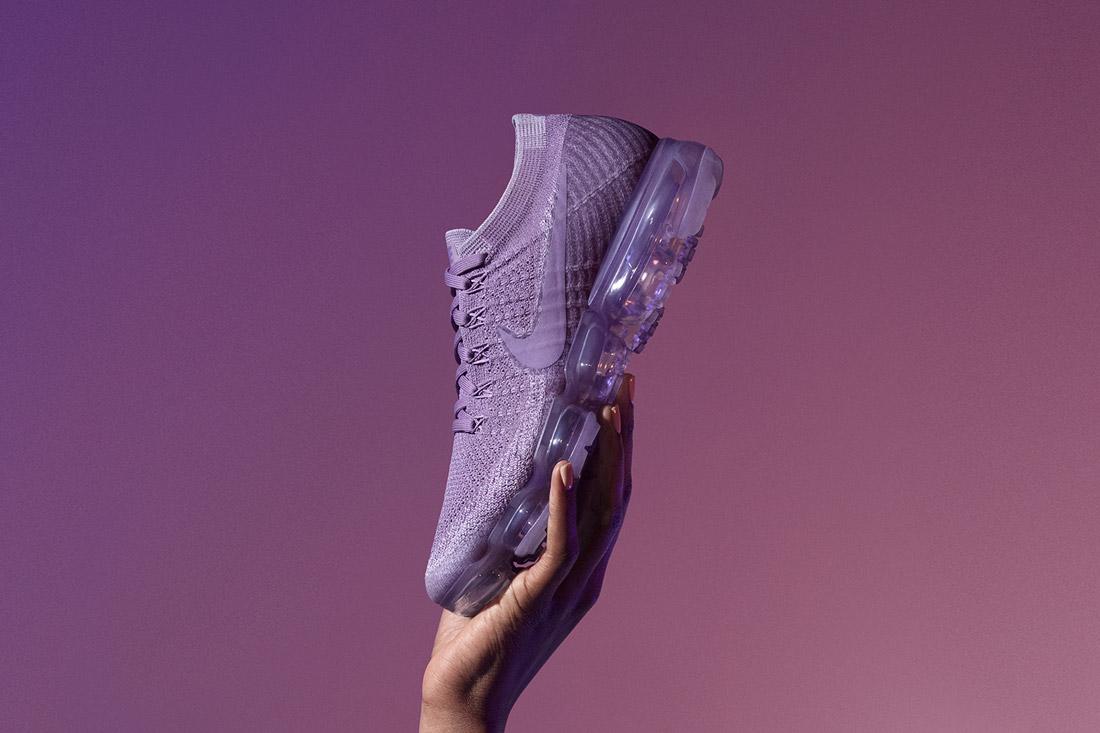 Nike Air VaporMax — boty — tenisky — sneakers — běžecké — světle fialové — light purple — dámské