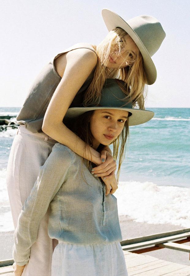 Paris+Hendzel — letní klobouky fedora — vlněné, plstěné — dámské — světle zelené