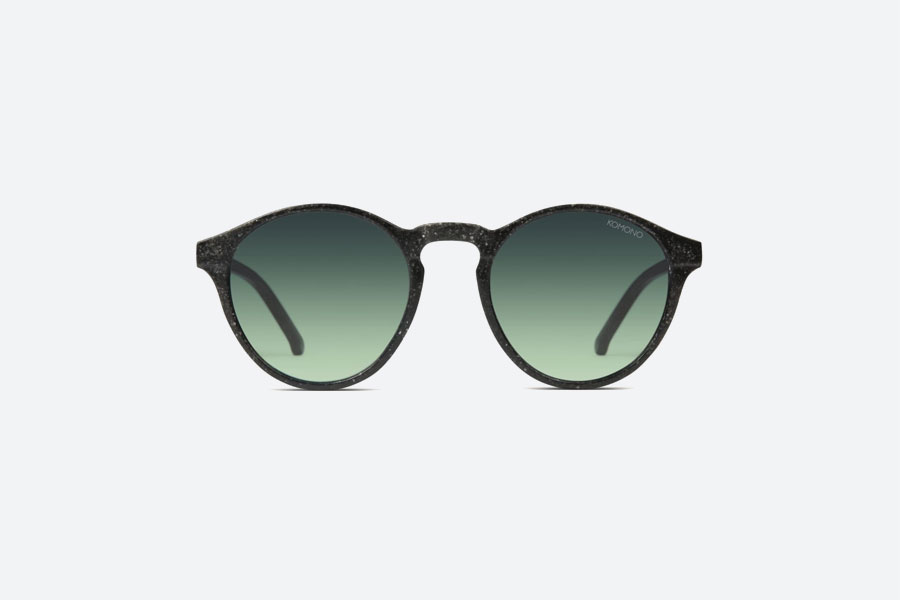 Komono — Devon Neutrø Black — sluneční brýle — dámské, pánské — černé — sustainable