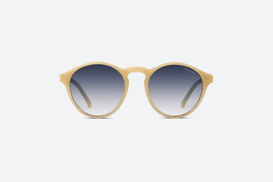 Komono — Devon Neutrø Sand — sluneční brýle — dámské, pánské — pískové — sustainable