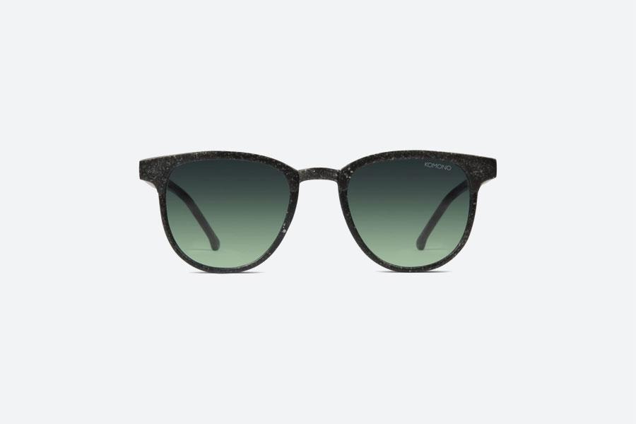 Komono — Francis Neutrø Black — sluneční brýle — dámské, pánské — černé — sustainable