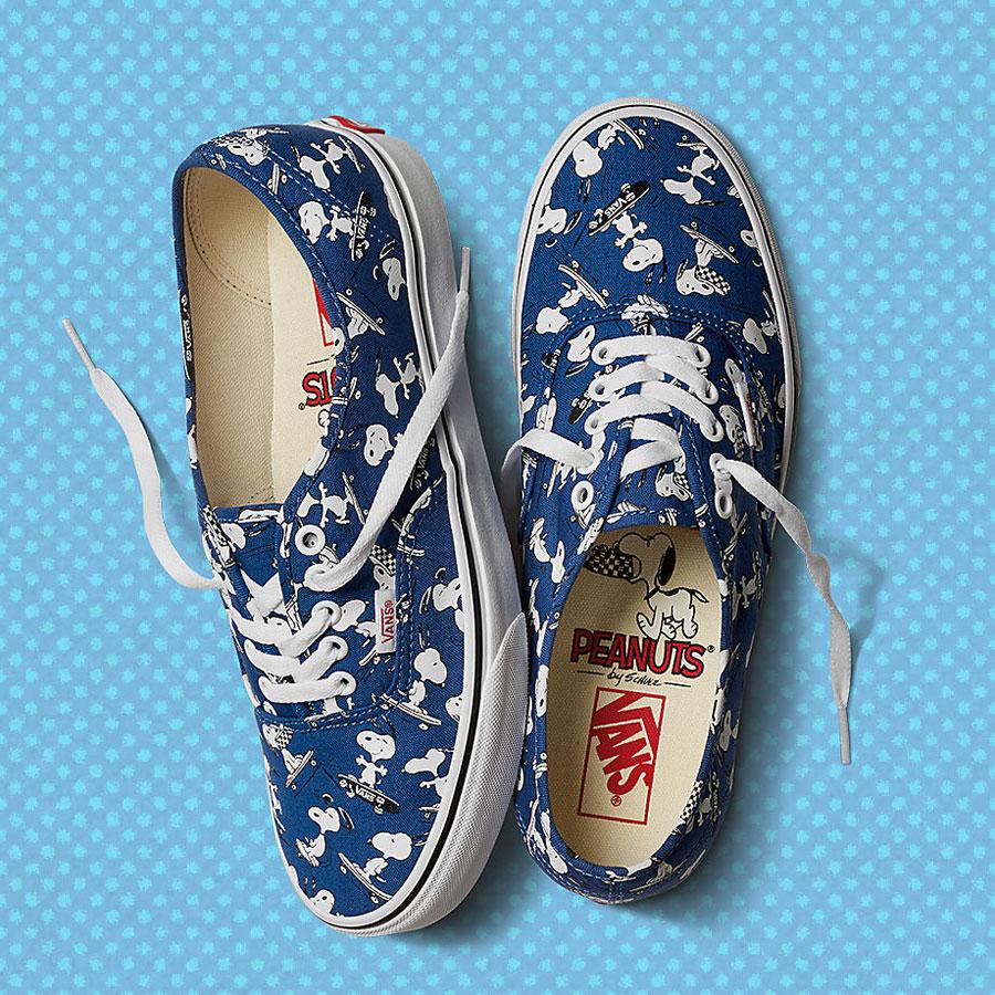 Vans x Peanuts — tenisky Authentic — modré — Snoopy