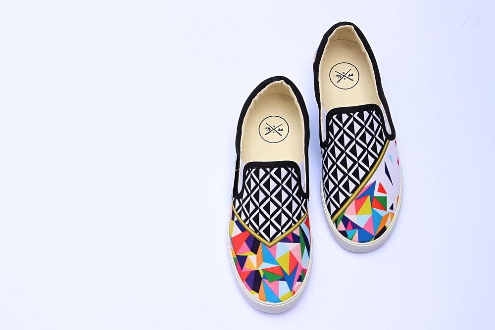 Inkkas — slip-on tenisky — fair trade boty — sustainable — dámské, pánské — barevné, ilustrované