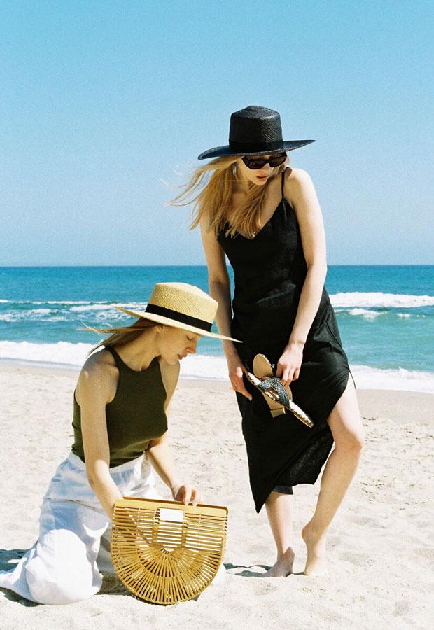 Paris+Hendzel — slaměné klobouky panama — letní — dámské — černé, přírodní
