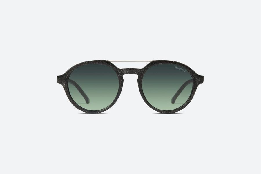 Komono — Harper Neutrø Black — sluneční brýle — dámské, pánské — černé — sustainable