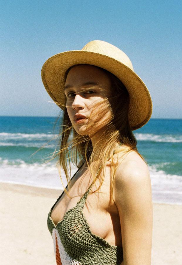 Paris+Hendzel — dámský slaměný klobouk panama — letní — přírodní barvy
