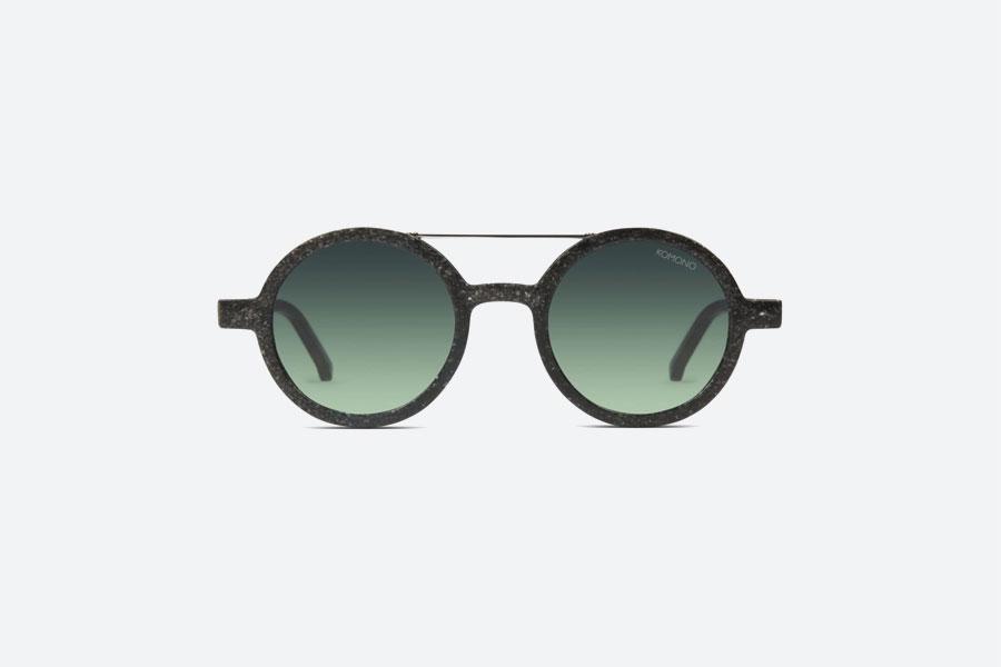 Komono — Vivien Neutrø Black — sluneční brýle — dámské, pánské — černé — sustainable