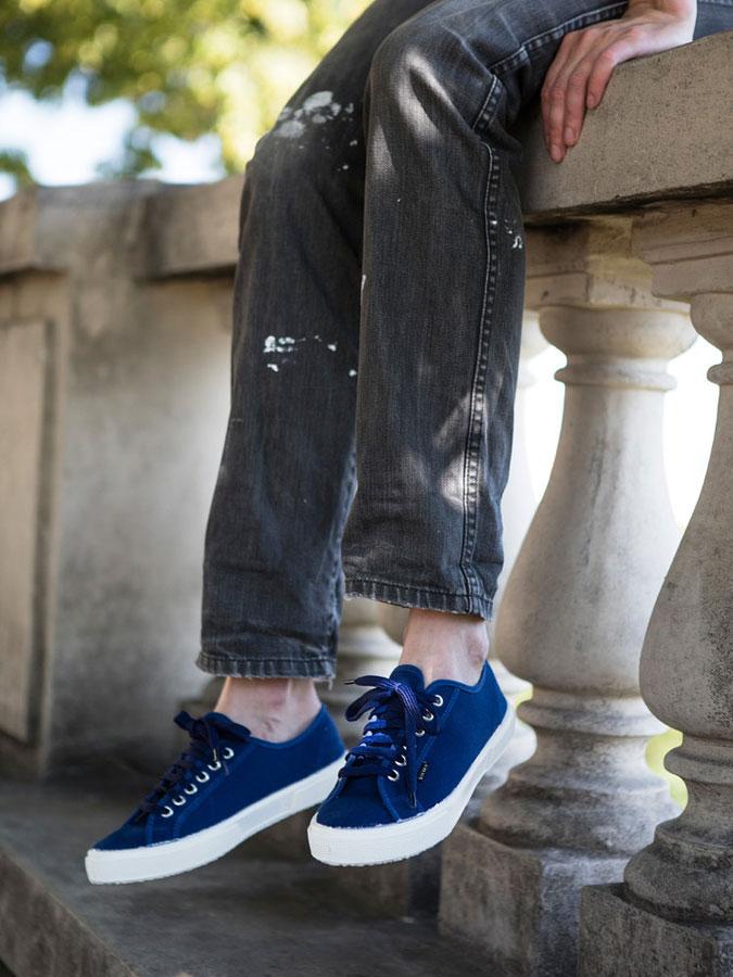 Bohempia — konopné plátěné tenisky — modré — kecky — letní tenisky — veganské — nízké — pánské, dámské — BHMP