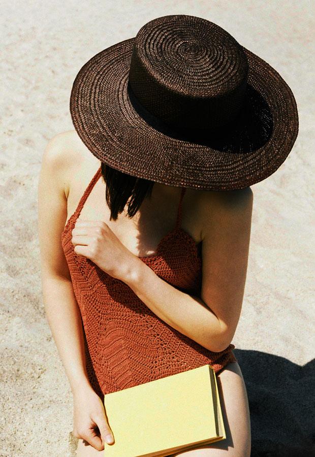 Paris+Hendzel — letní slaměný klobouk panama — dámský — hnědý