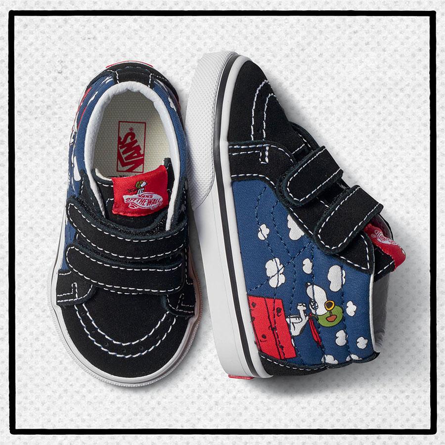 Vans x Peanuts — dětské boty Sk8-Mid Reissue — Snoopy