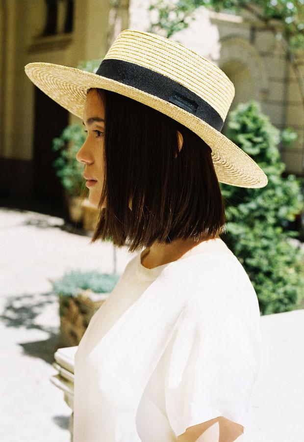 Paris+Hendzel — letní slaměný klobouk canotier — dámský — přírodní