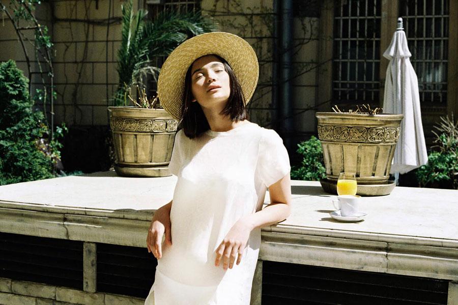 Paris+Hendzel — dámský slaměný klobouk canotier — letní — přírodní