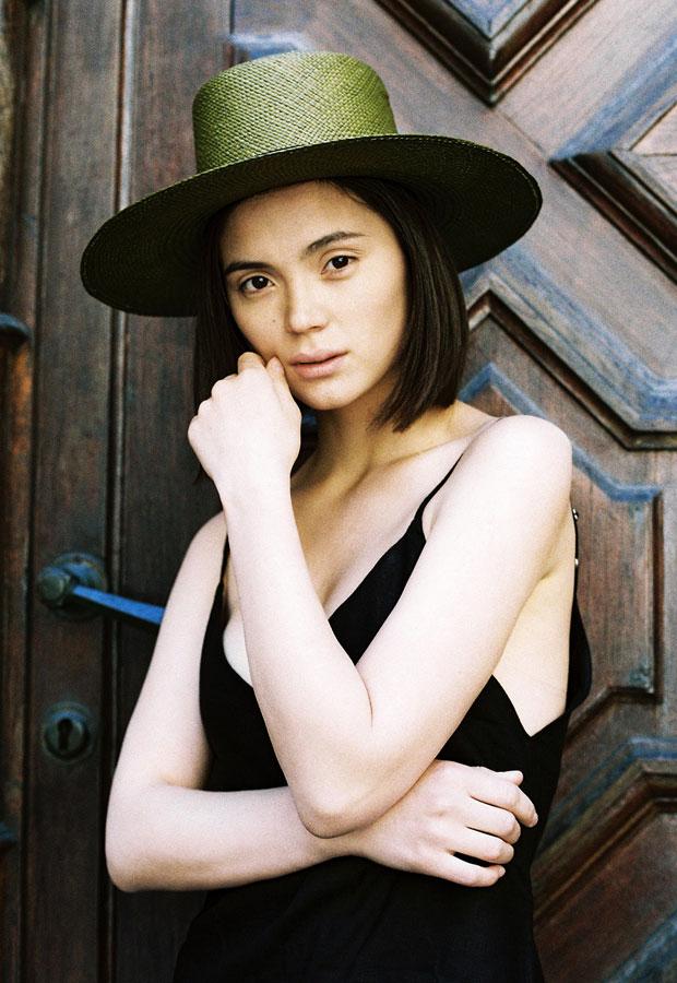 Paris+Hendzel — dámský slaměný klobouk — panama — letní — tmavě zelený