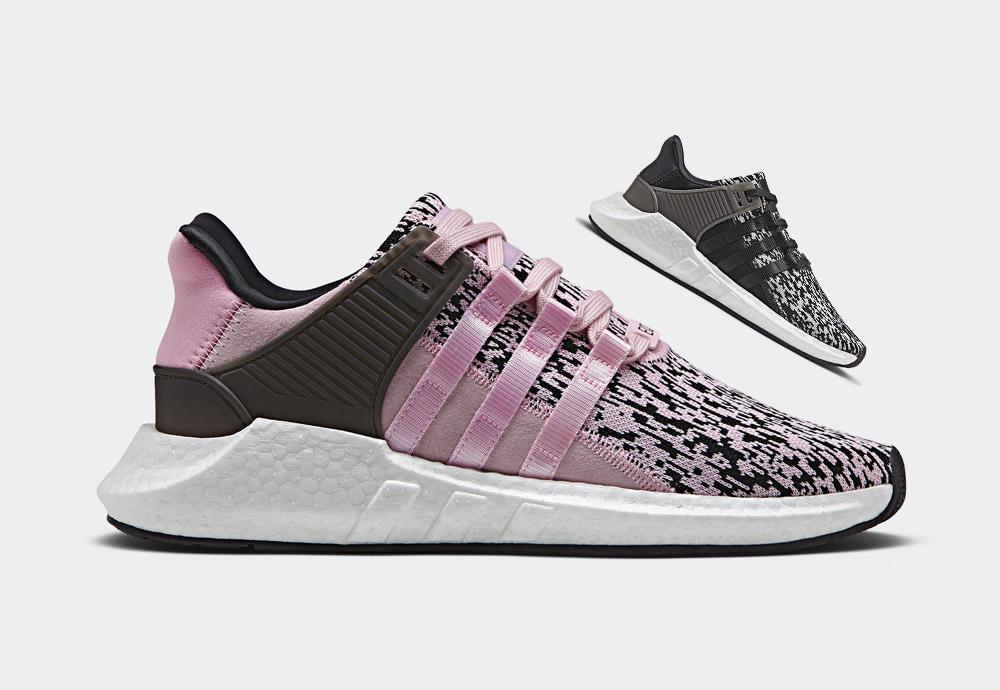 adidas Originals EQT Support 93/17 — glitch-pixel — černé, růžové