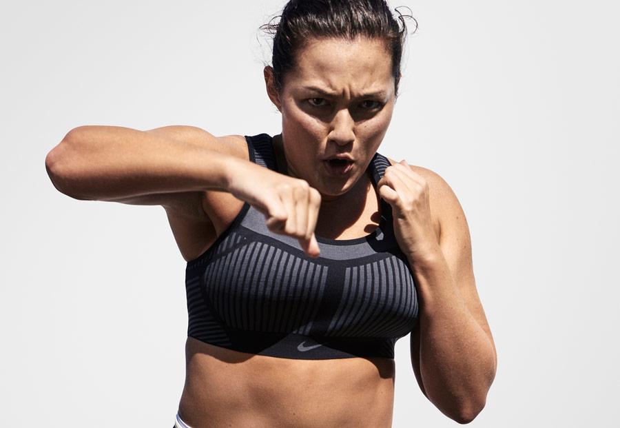 Sportovní podprsenka Nike FE/NOM Bra s revoluční technologií Flyknit