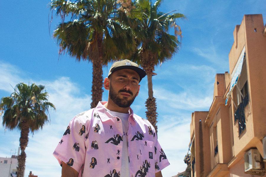Hurthado Clo' — pánská košile s krátkým rukávem — růžová