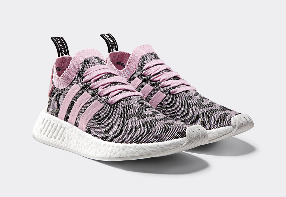 adidas Originals NMD_R2 Primeknit — boty — tenisky — sneakers — dámské — růžové