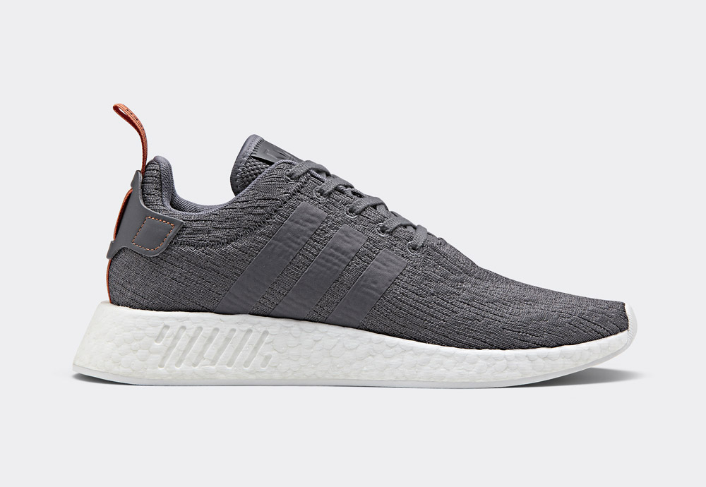 adidas Originals NMD_R2 — boty — tenisky — sneakers — pánské — tmavě šedé