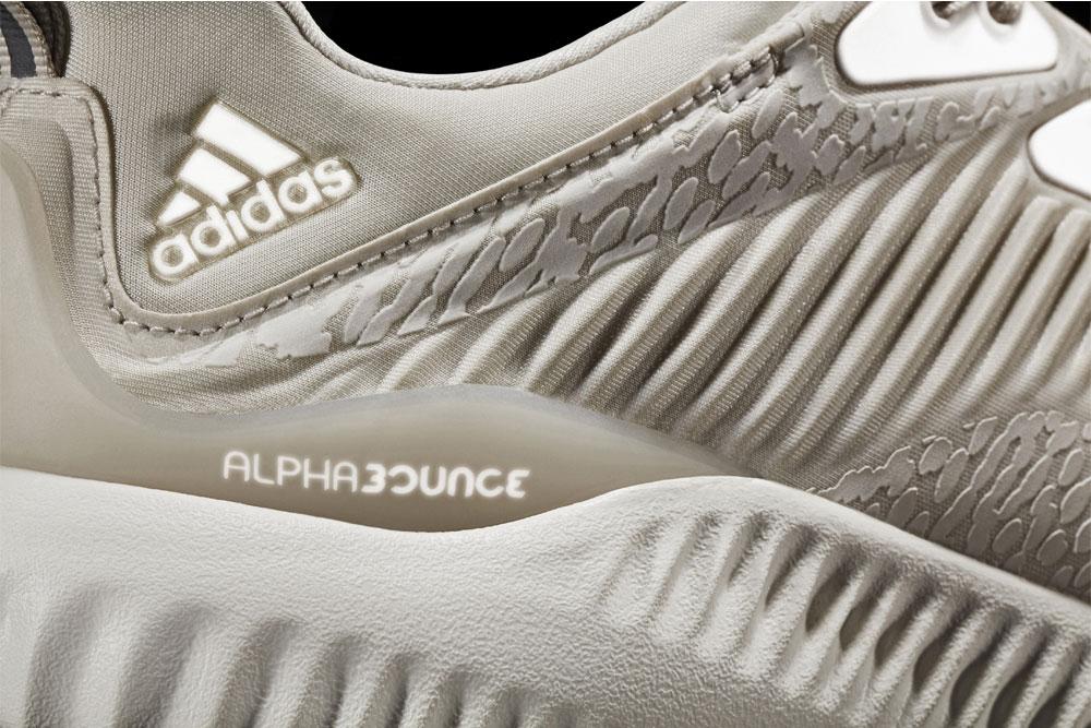 adidas alphabounce Reflective Tan — reflexní plochy