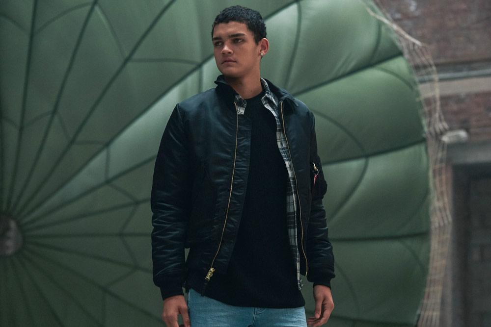 Alpha Industries — pánský bomber — jacket — modrý