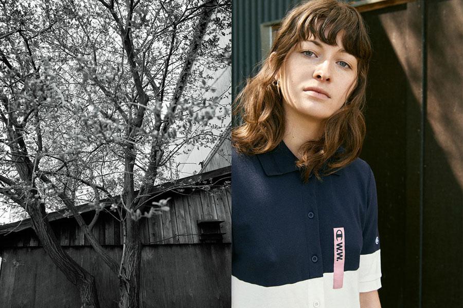 Champion x Wood Wood — polo tričko s límečkem — dámské — modré, bílé