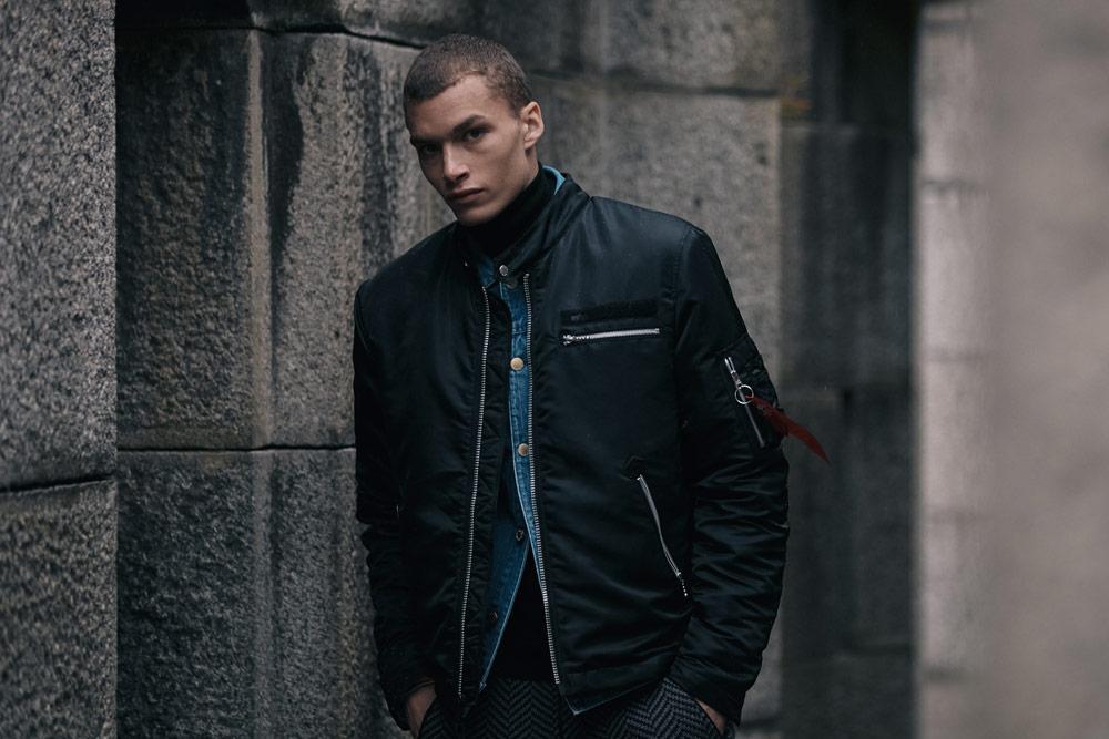 Alpha Industries — pánský bomber — jacket — černý