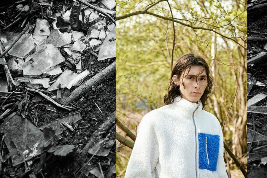 Champion x Wood Wood — pánská kožíšková bunda se stojáčkem