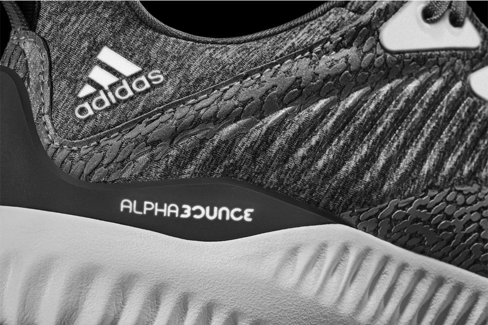 adidas alphabounce Reflective Silver — reflexní plochy