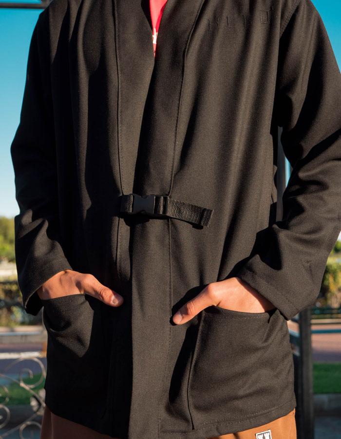 Hurthado Clo' — pánská černá dlouhá mikina bez kapuce