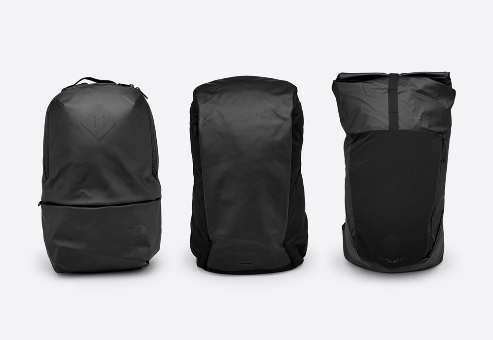 The North Face — černé batohy — nepromokavé — waterproof backpacks
