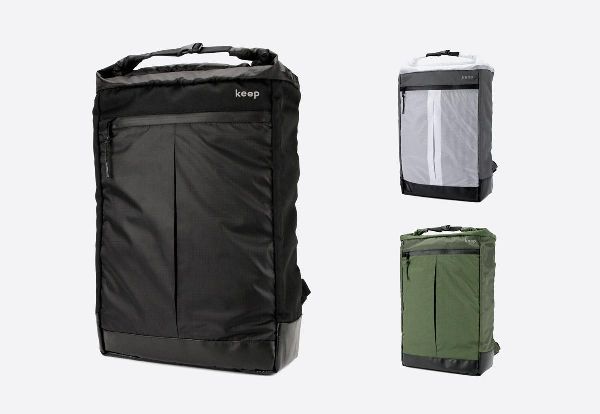 Městský batoh We Are Able Neustadt — černý, šedý, olivově zelený — dámský, pánský