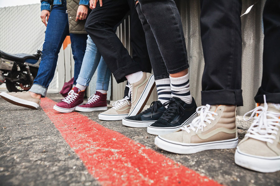 Vans Boom Boom Collection — boty — tenisky — SK8-Hi Slim Zip — Old Skool