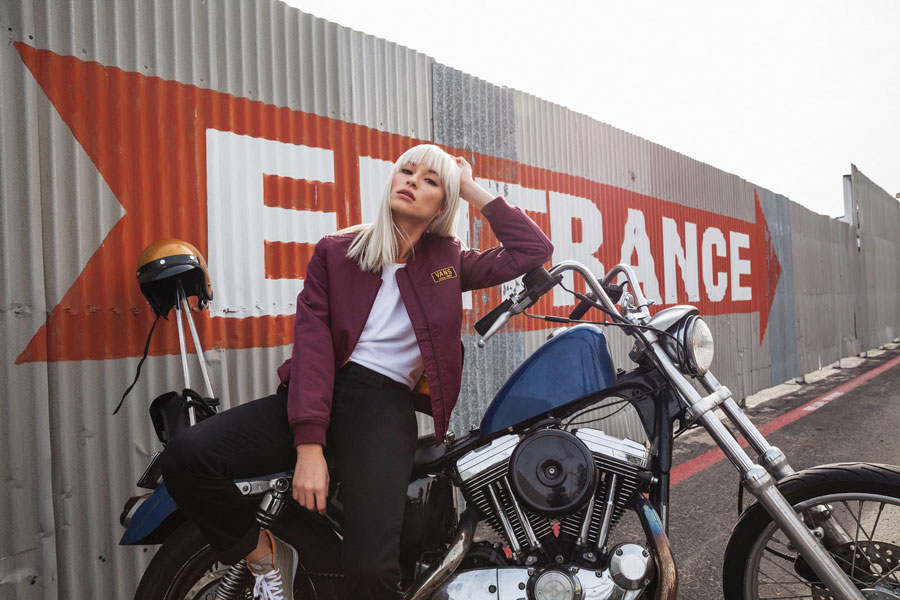 Vans Boom Boom Collection — vínový dámský bomber — bordo bomber jacket