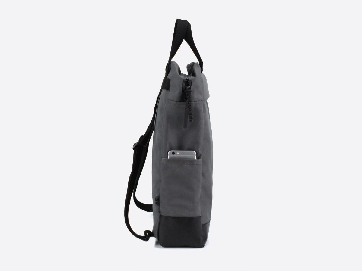 We Are Able — Kreuzberg Grey — batoh — nepromokavý — boční pohled