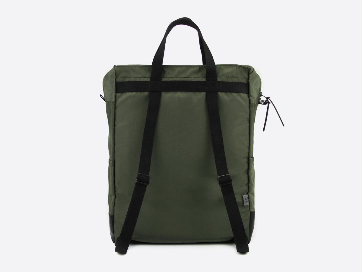 We Are Able — Kreuzberg Olive — batoh — nepromokavý — zadní pohled